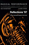 Reflections '97: A Special Issue of the Journal Mu...