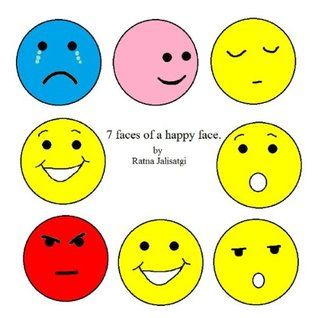 7 faces of a 'Happy Face'.